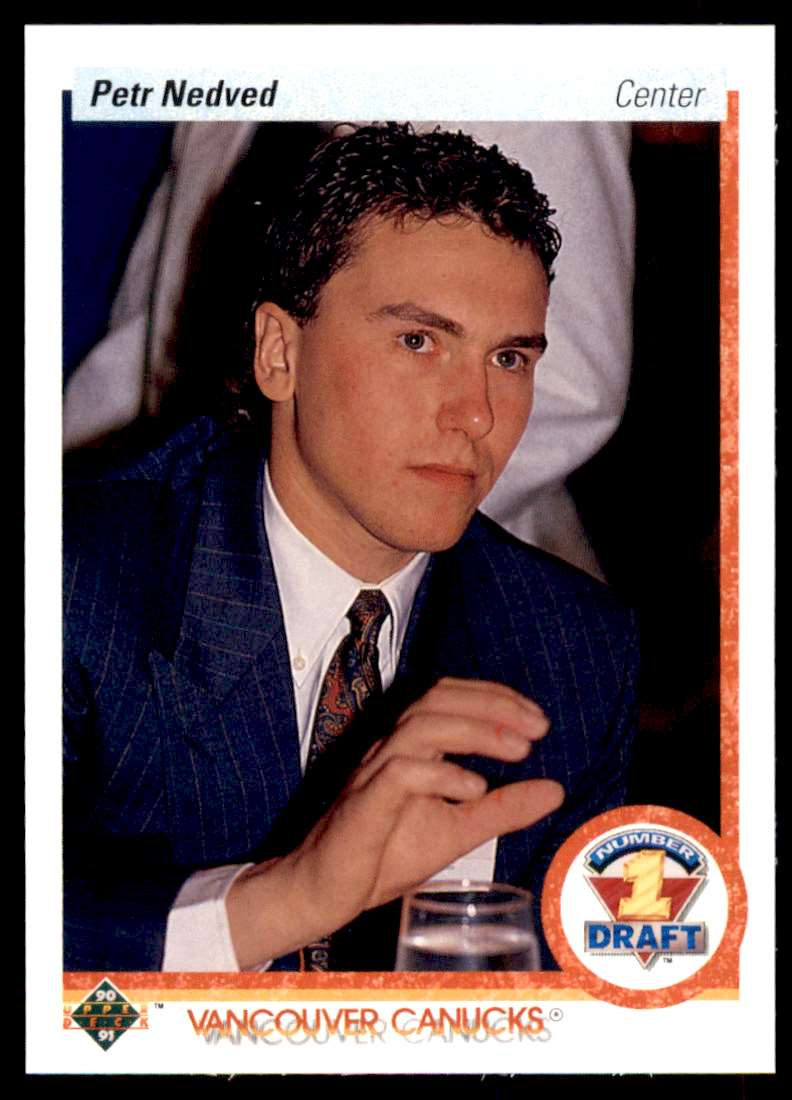 1990-91 UD Petr Nedved #353 card front image