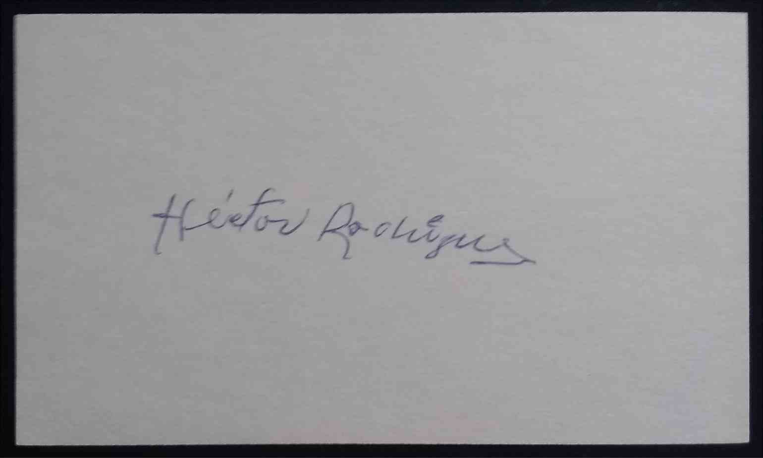 1952 3X5 Hector Rodriguez card back image