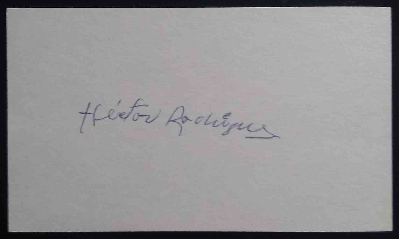 1952 3X5 Hector Rodriguez card front image
