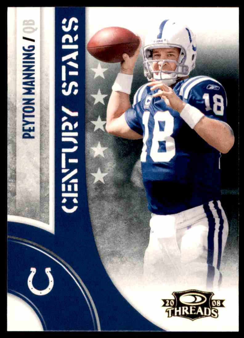 2008 Donruss Threads Century Stars Peyton Manning #CS-3 card front image