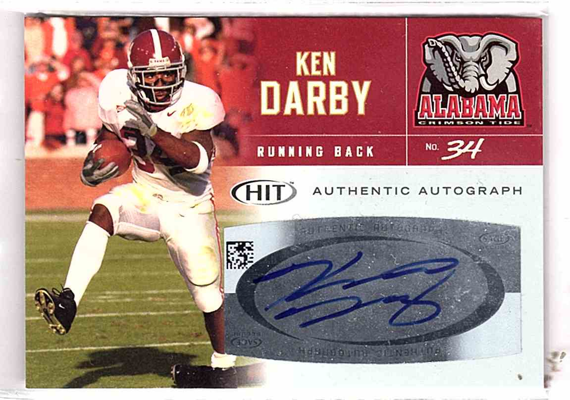 2007 Sage Hit Autographs Kenneth Darby #A34 card front image