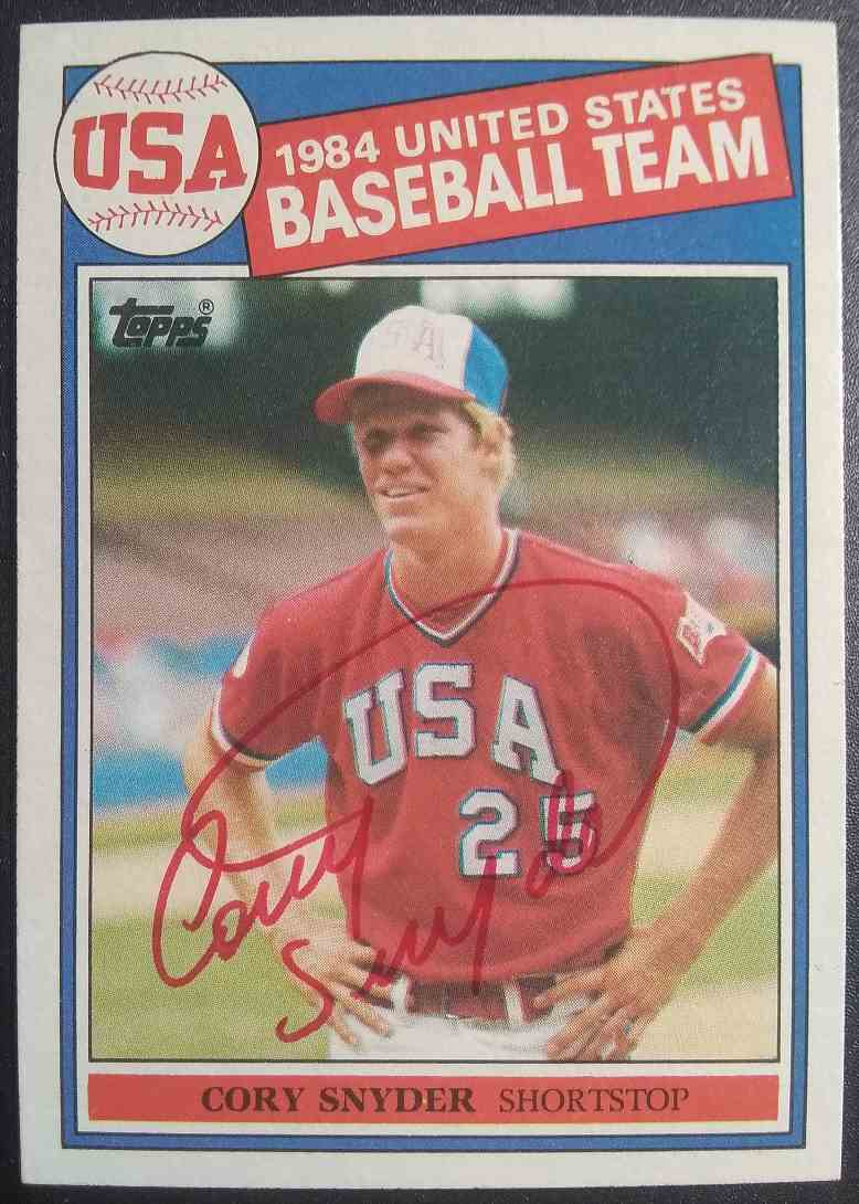 1985 Topps Cory Snyder #403 card front image