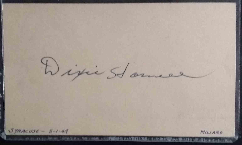 1940 3X5 Millard Dixie Howell card back image