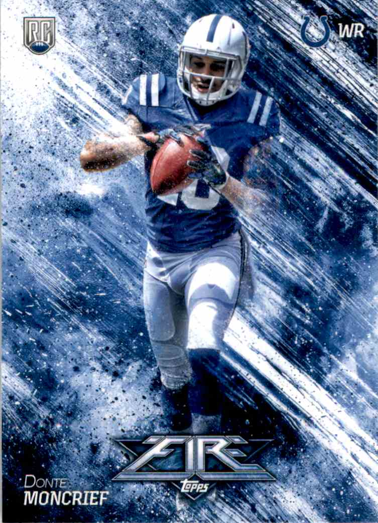 2014 Topps Fire Donte Moncrief RC #127 card front image