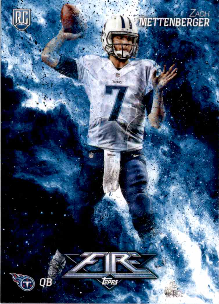 2014 Topps Fire Zach Mettenberger RC #117 card front image