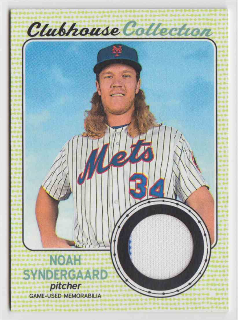 2017 Topps Heritage High Clubhouse Collection Relics Noah Syndergaard #CCR-NS card front image