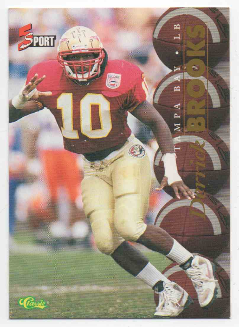 1995 Classic 5 Sport Derrick Brooks #69 card front image