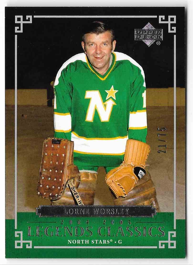 2004-05 Upper Deck Legends Classics Lorne Worsley #38 card front image