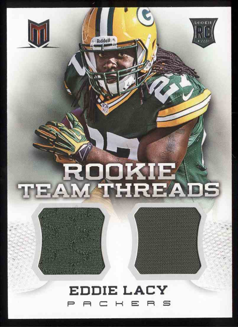 2013 Panini Momentum Rookie Team Threads Combo Material Eddie Lacy #10 card front image