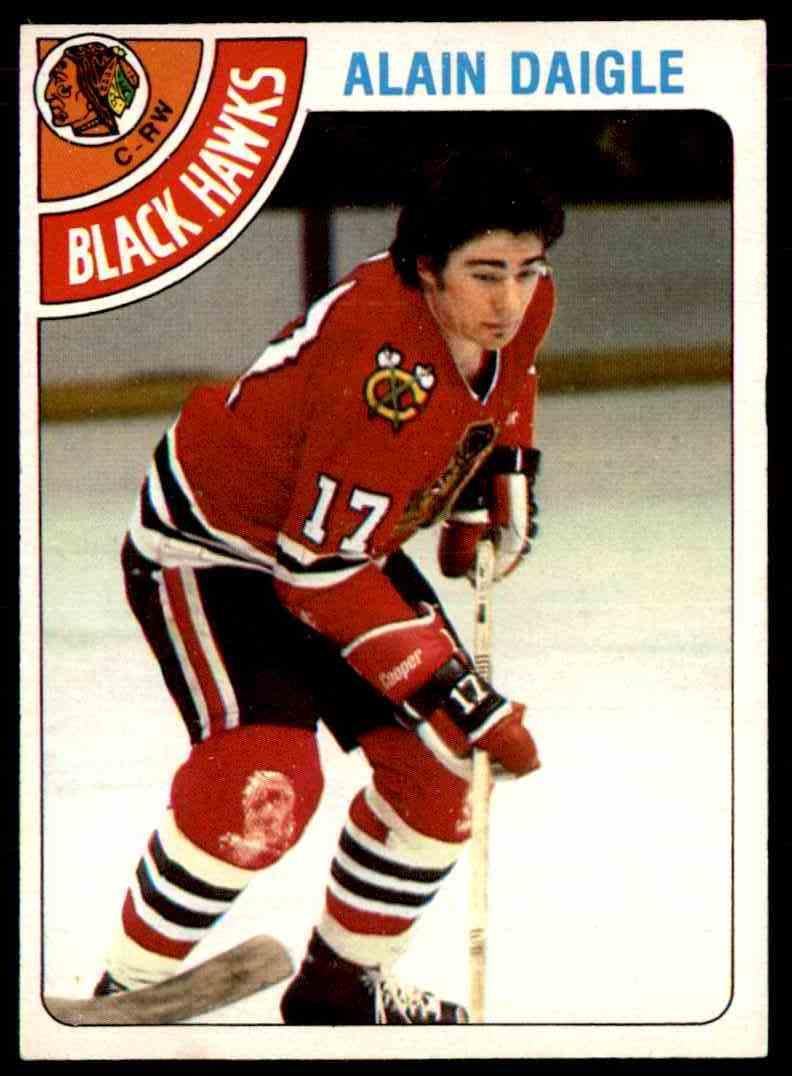 1978-79 O-Pee-Chee Alain Daigle #117 card front image