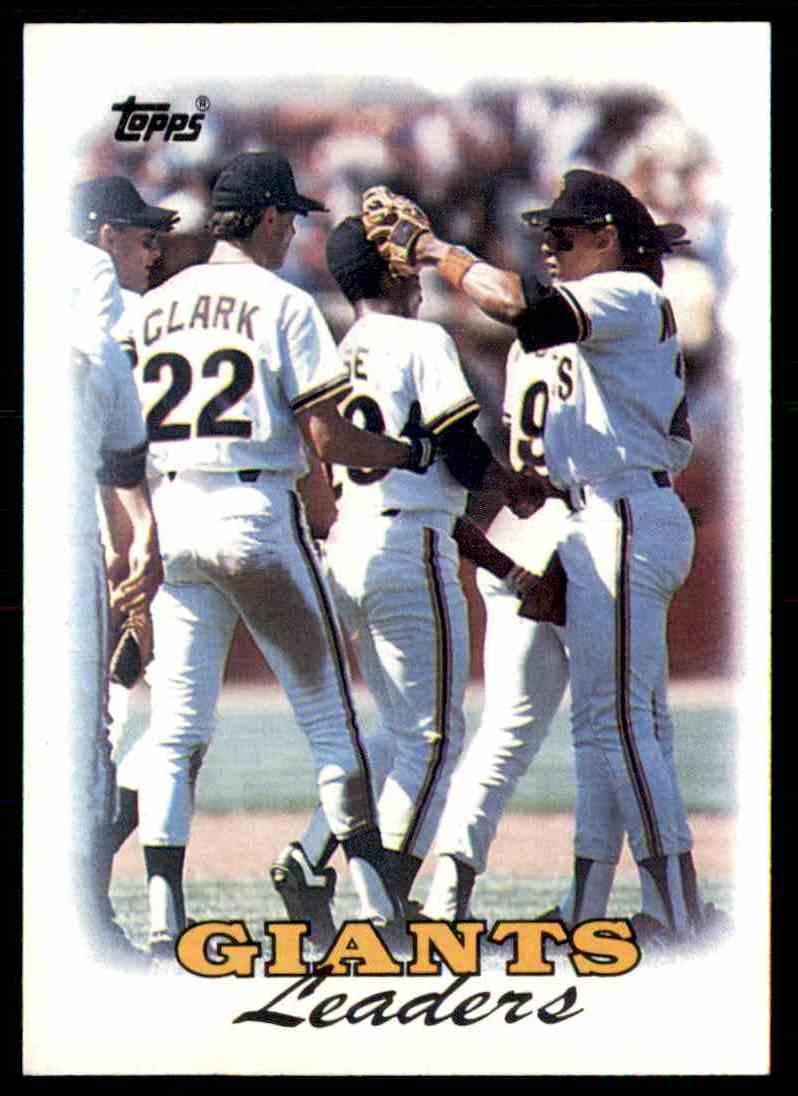 1988 Topps Giants Leaders Will Clark 261 On Kronozio