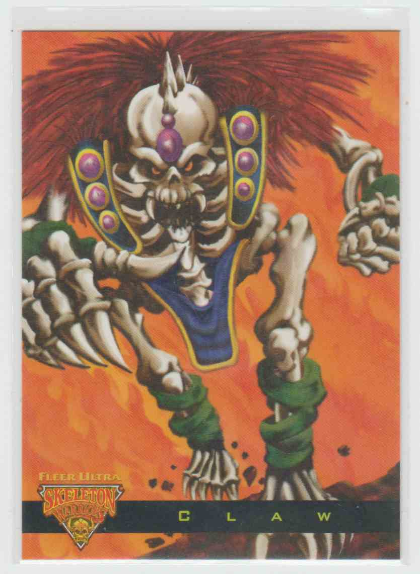 1995 Fleer Ultra Skeleton Warriors Luma Bone Claw #5 card front image