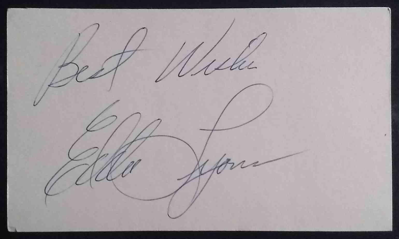 1947 3X5 Eddie Lyons card back image