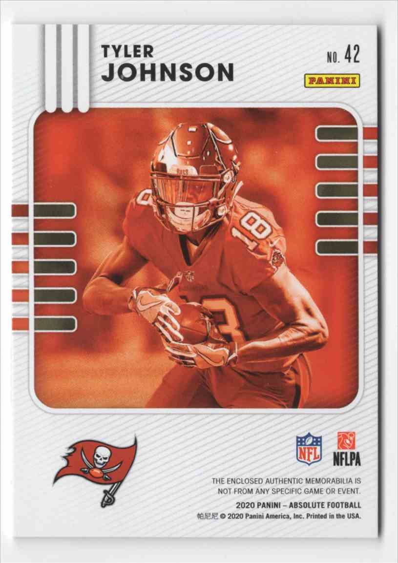 2020 Absolute Absolute Rookie Materials Tyler Johnson #42 card back image