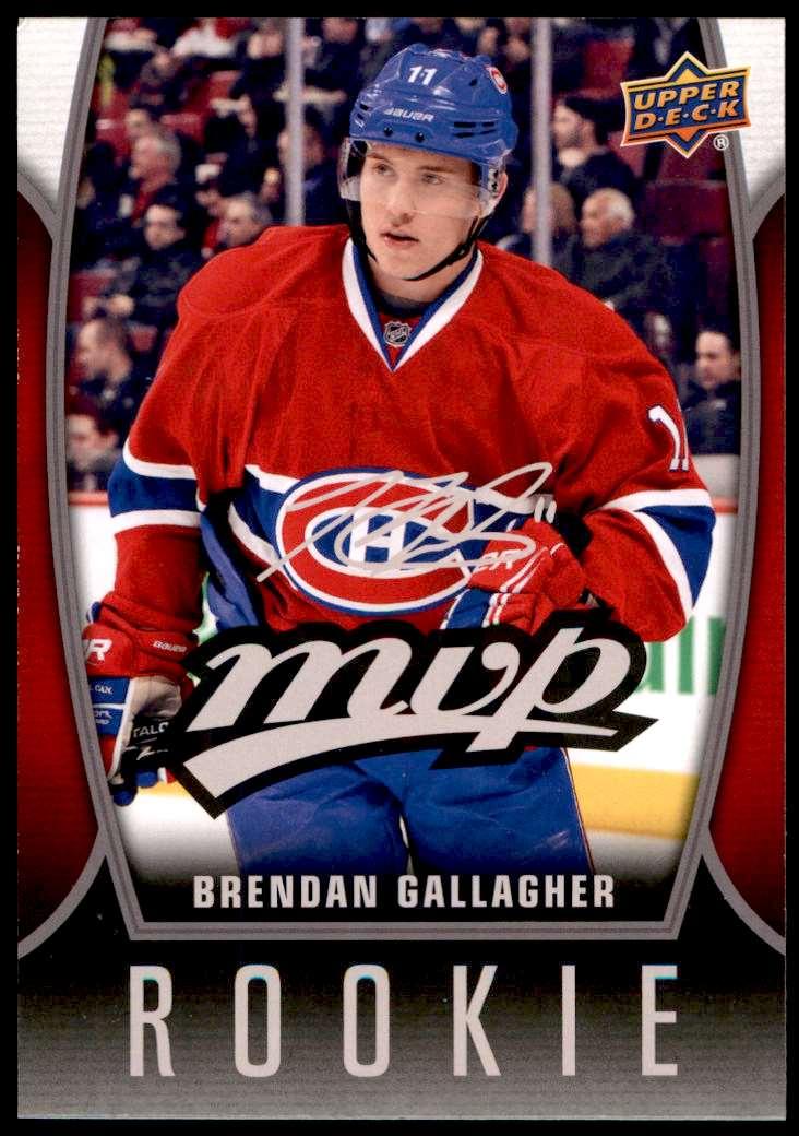 2013-14 Upper Deck MVP Oversized Brendan Gallagher #68 card front image