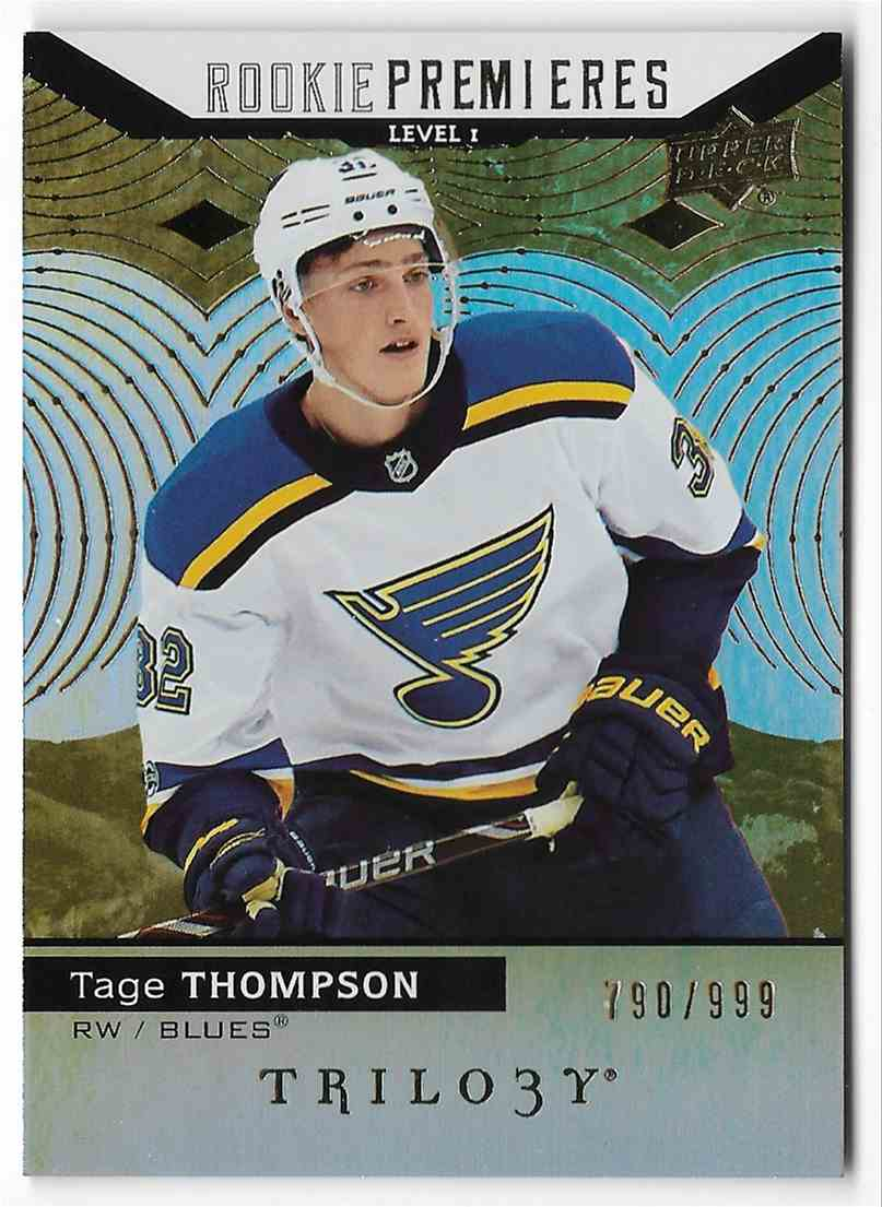 2017-18 Upper Deck Trilogy Tage Thompson #72 card front image