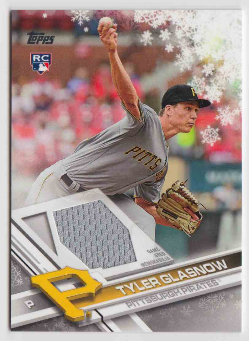 2017 Topps Holiday Relics Tyler Glasnow #R-TG card front image
