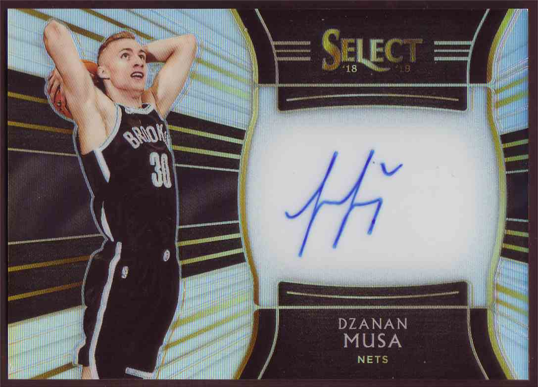 2018-19 Panini Select Rookie Signatures Dzanan Musa #RS-DZM card front image