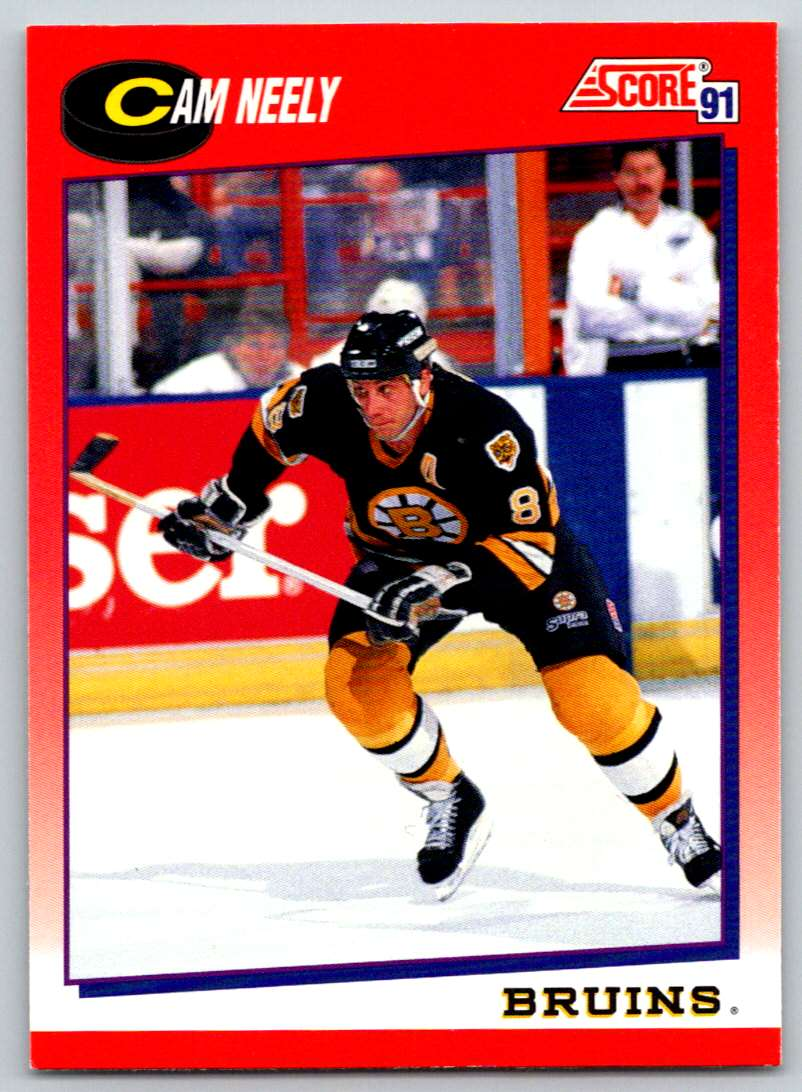 1991-92 Score Canadian Bilingual Cam Neely #6 card front image