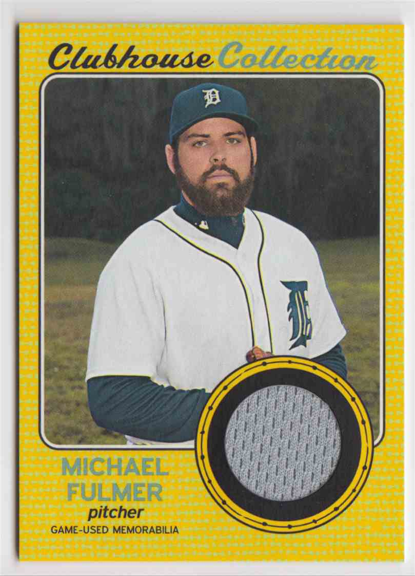 2017 Topps Heritage High Clubhouse Collection Gold Michael Fulmer #CCR-MF card front image