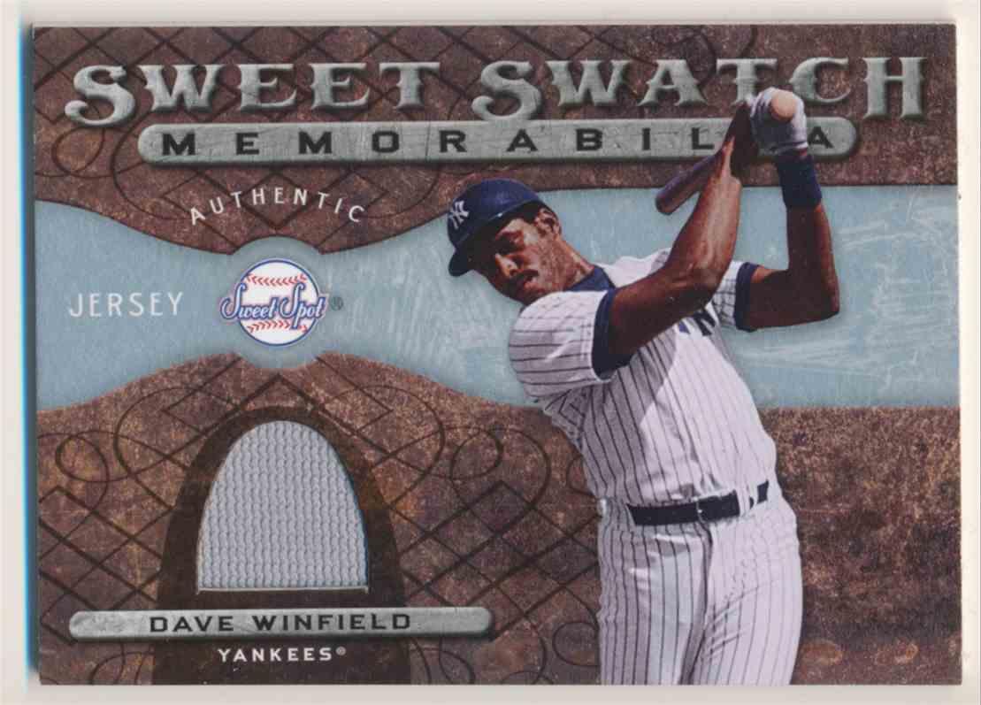 2009 Sweet Spot Sweet Swatch Memorabilia Dave Winfield #SS-DW