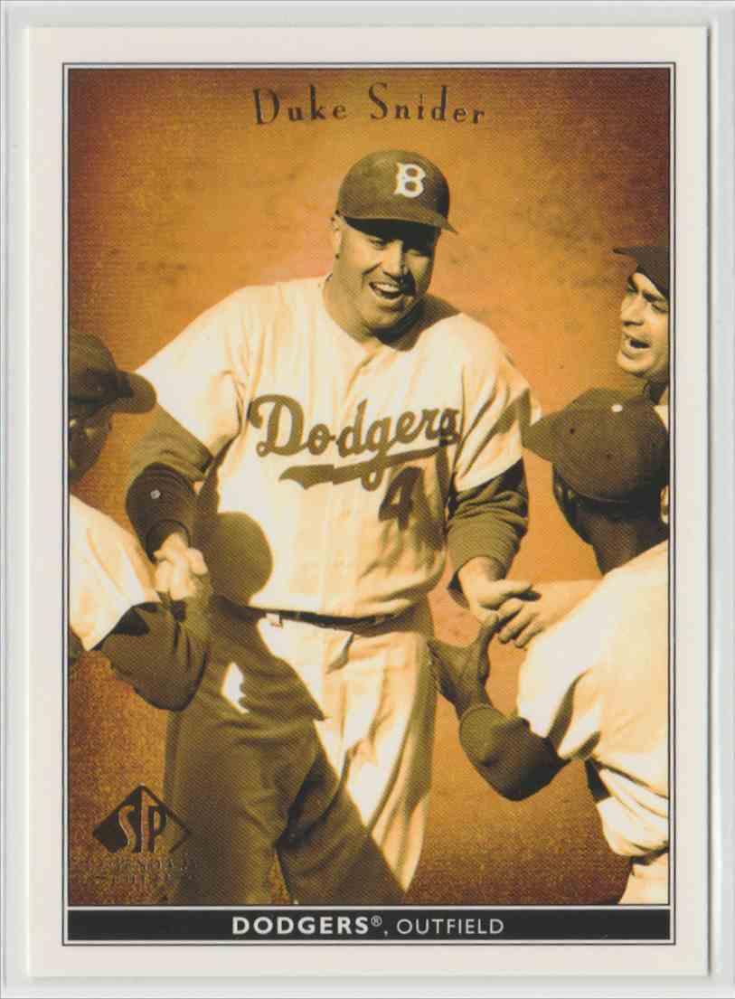 2002 SP Legendary Cuts Duke Snider 20 Card Front Image