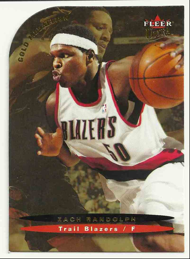 2003-04 Ultra Gold Medallion Zach Randolph #88 card front image