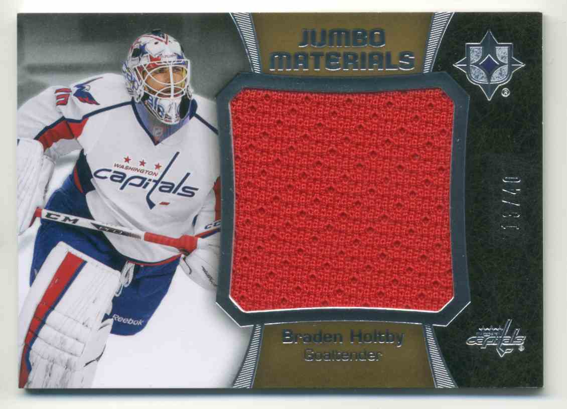 2015-16 Upper Deck Ultimate Collection Jumbo Materials Braden Holtby #JM-BH card front image