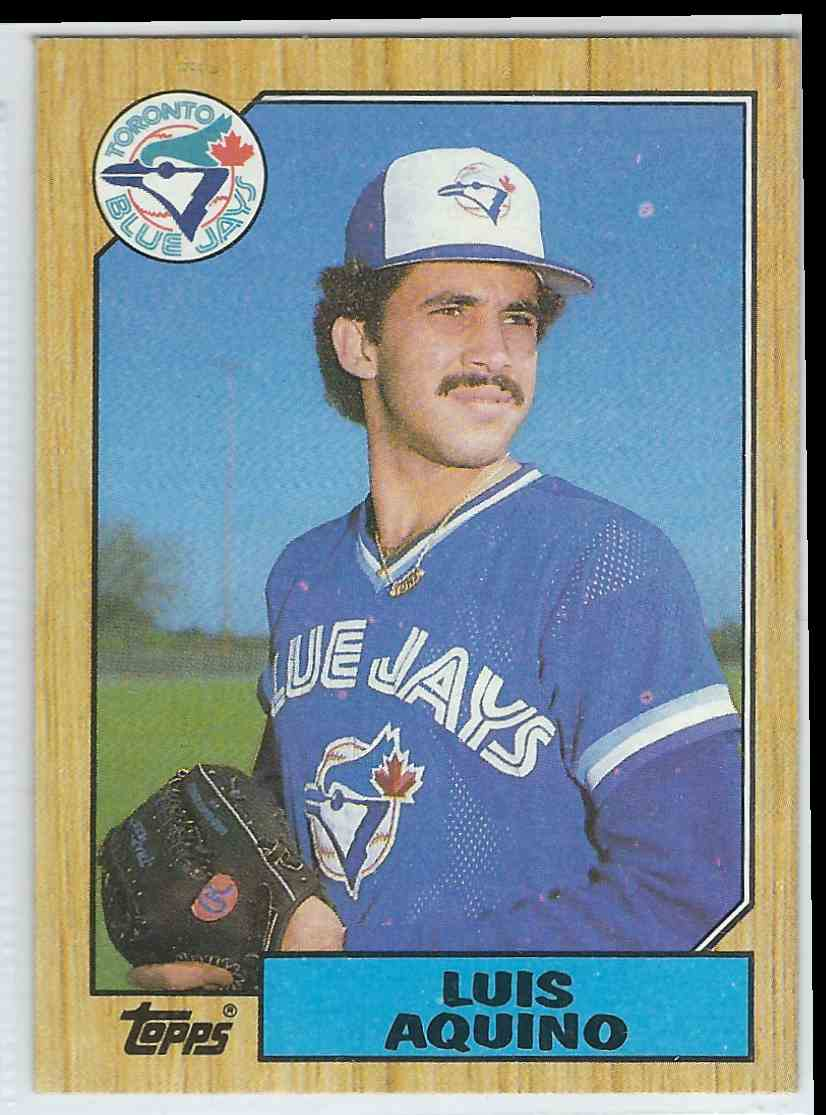 1987 Topps Topps Luis Aquino #301 card front image