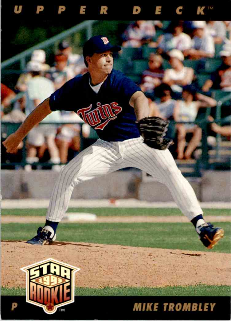 1993 Upper Deck Star Rookie Mike Trombley #28 card front image