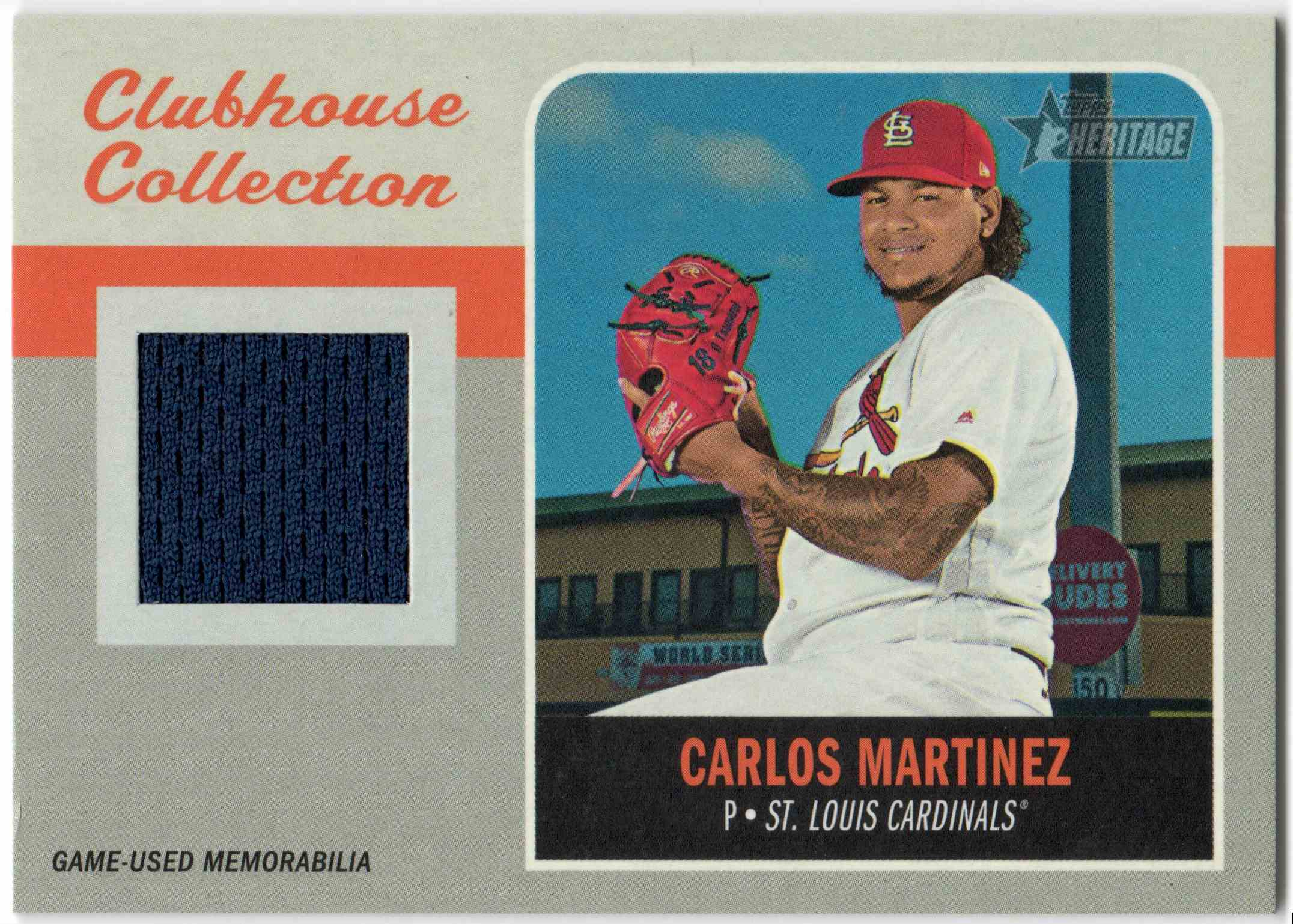 2019 Topps Clubhouse Collection Carlos Martinez #CCR-CM card front image