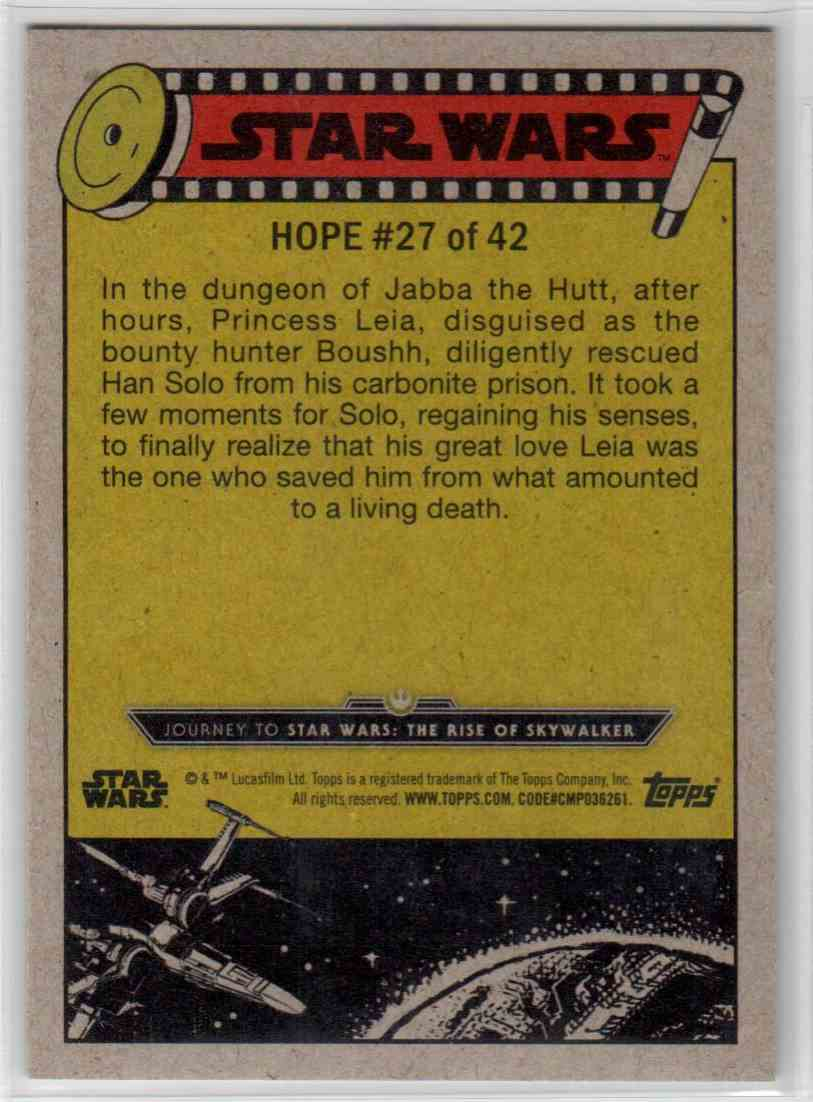 2019 Topps Star Wars Journey To Rise Of Skywalker Han Solo's Icy Prison #27 card back image