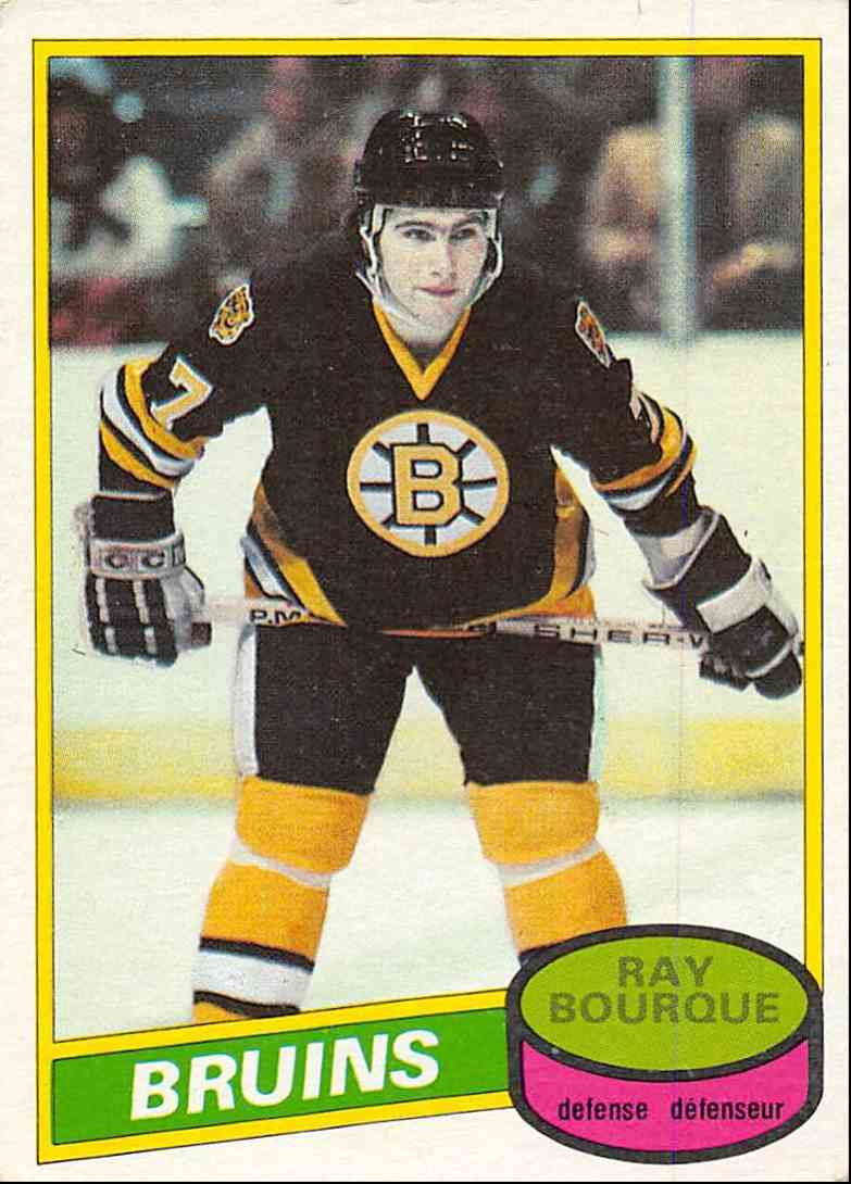1980-81 O-Pee-Chee Ray Bourque #140 card front image