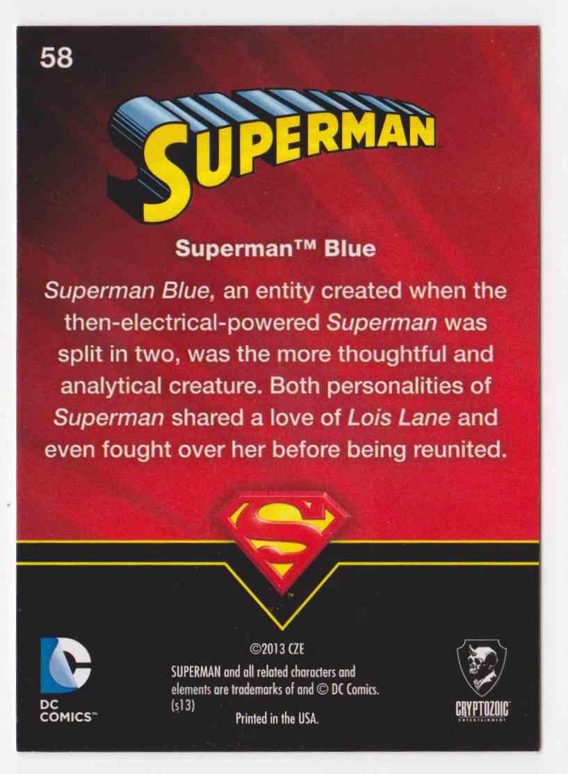 2013 Superman Cryptozoic Superman #58 card back image