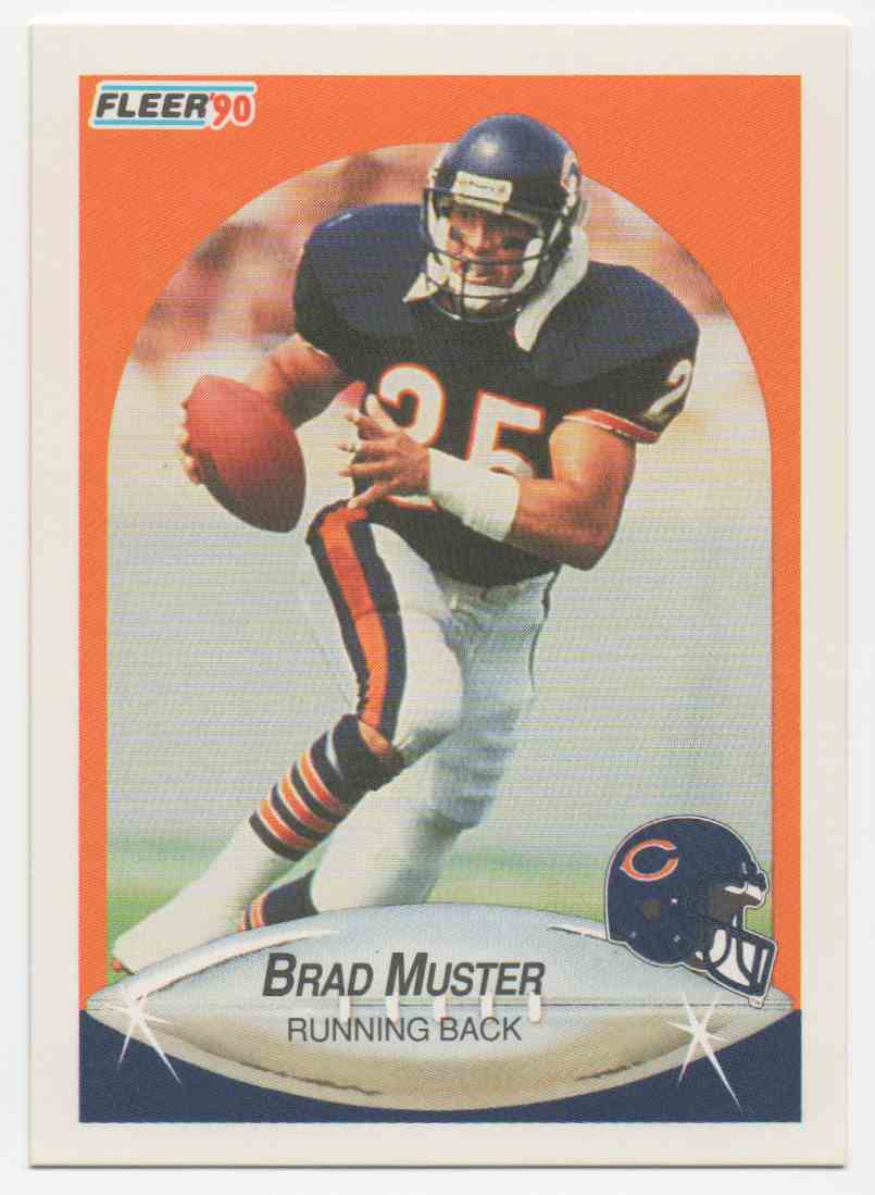 1990 Fleer Brad Muster #298 card front image