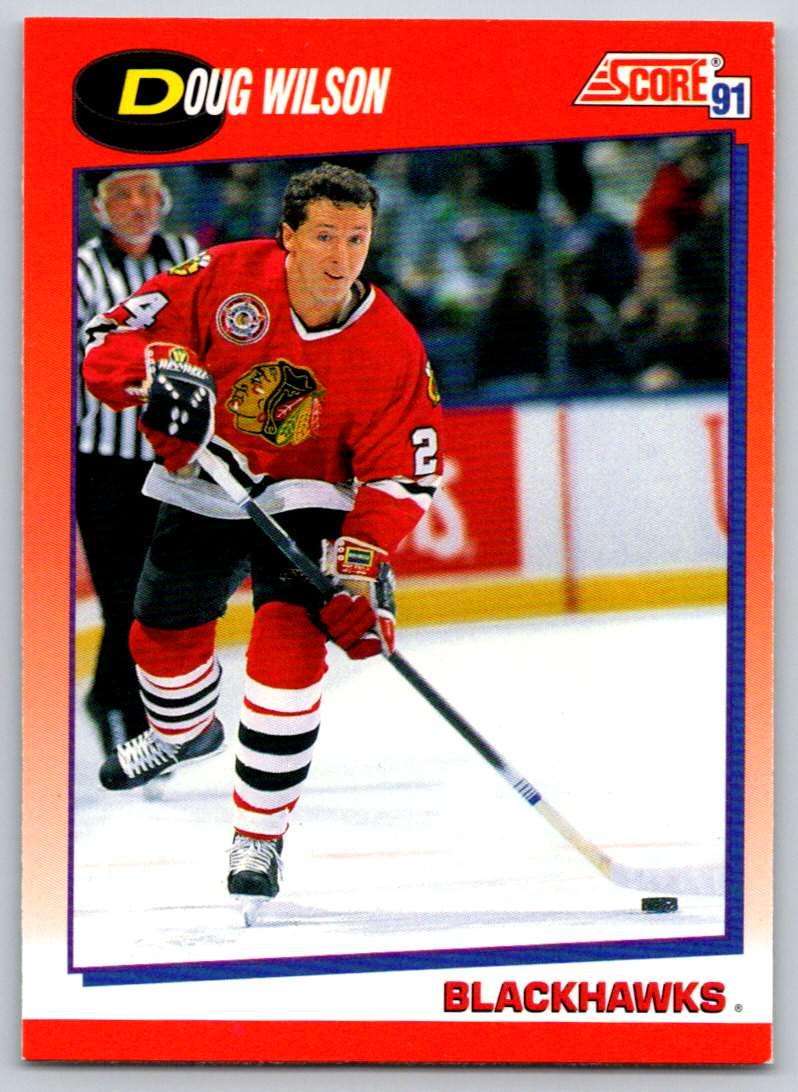 1991-92 Score Canadian Bilingual Doug Wilson #35 card front image