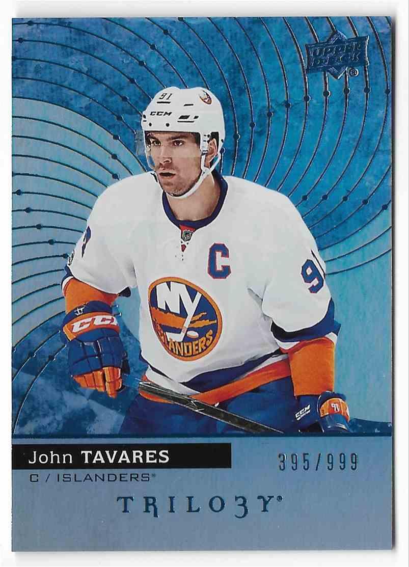 2017-18 Upper Deck Trilogy John Tavares #10 card front image