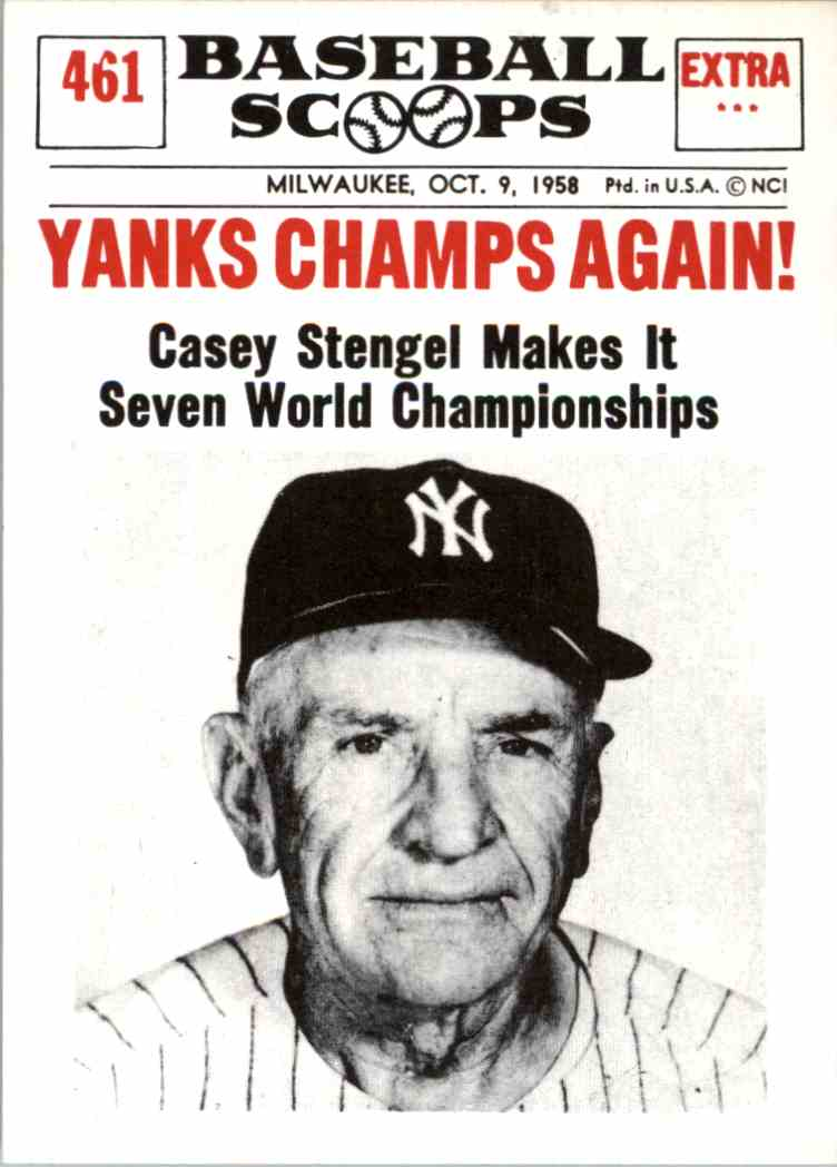 1961 Nu Card Baseball Scoops Reprint Casey Stengel 461