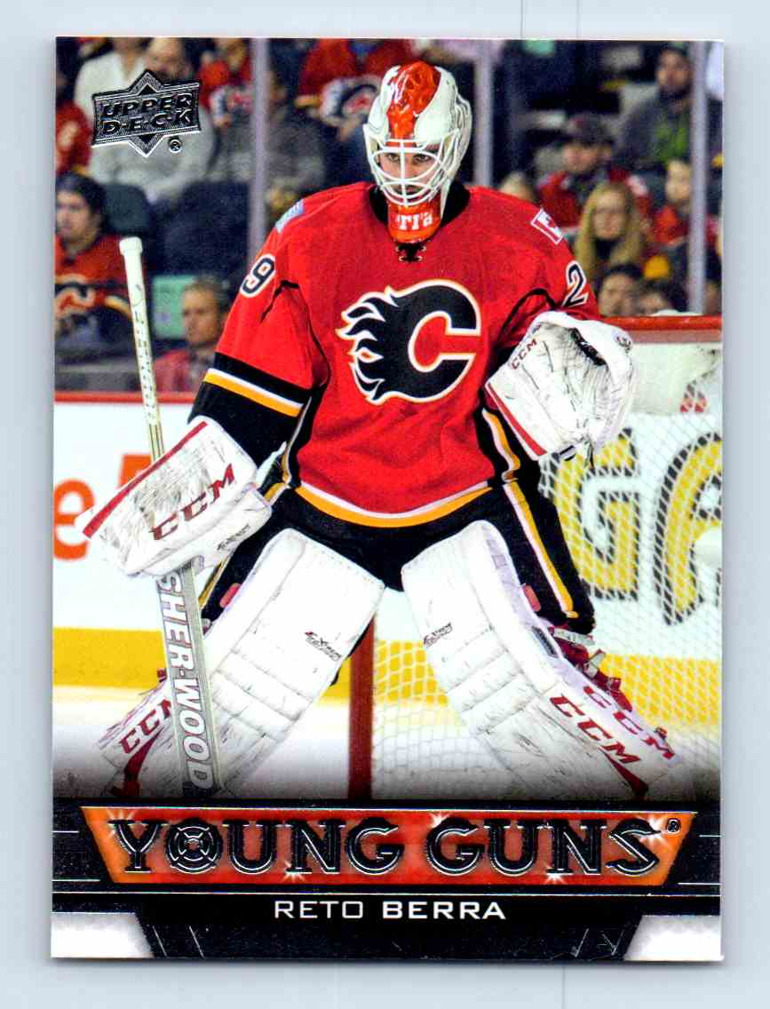 2013-14 Upper Deck Young Guns Reto Berra #461 card front image