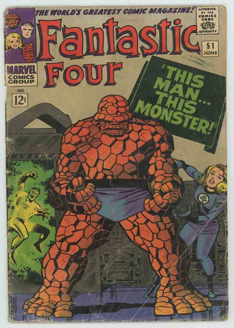 1963 Marvel Vg 1st Negative Zone #51 card front image