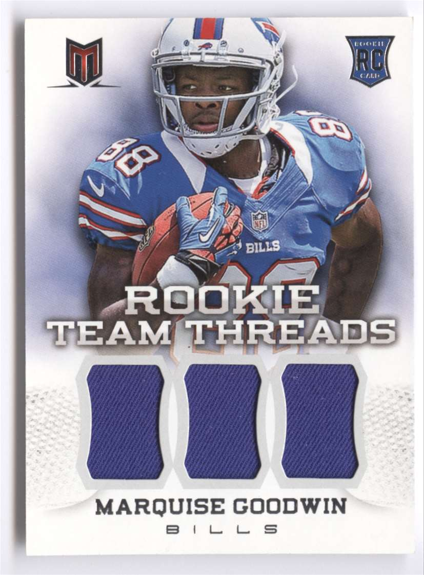 2013 Panini Momentum Rookie Team Threads Triple Materials Marquise Goodwin #31 card front image