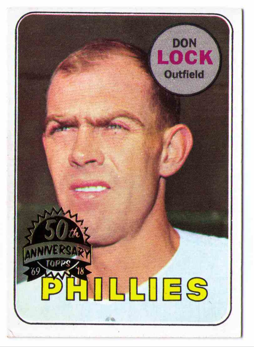 1969 Topps 50th Anniversary 2018 Topps Heritage Buyback Don Lock #229 card front image