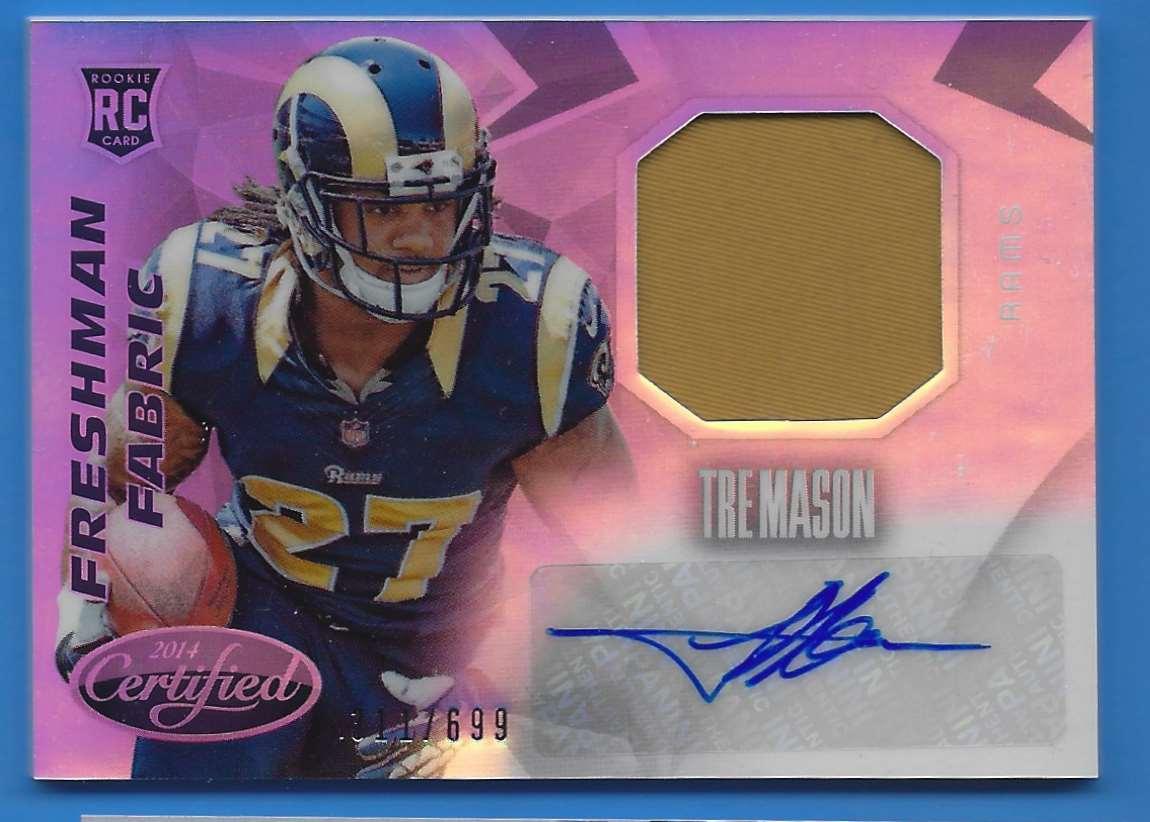 2014 Certified Freshman Fabric Tre Mason #240 card front image