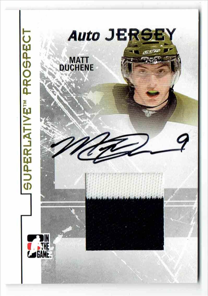2009-10 ITG Superlative Prospects Silver Matt Duchene #PAJ-MD card front image