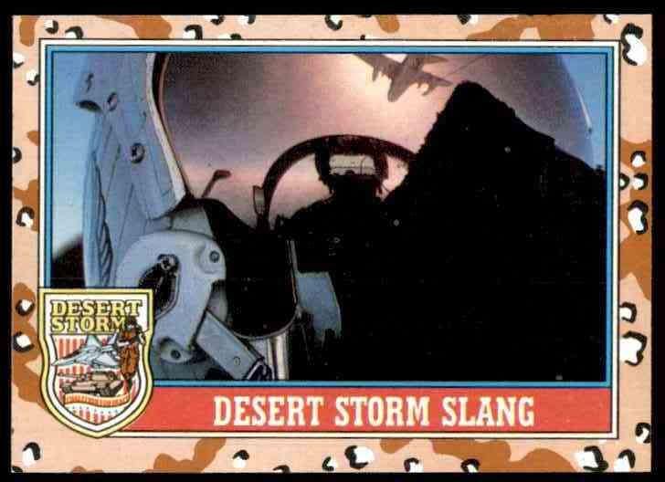 1991 Desert Storm Topps Desert Storm Slang #145 card front image