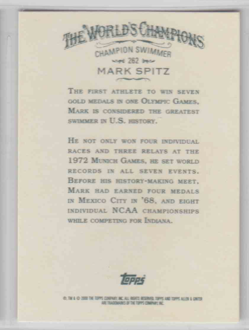 2008 Topps Allen And Ginter Mark Spitz #262 card back image