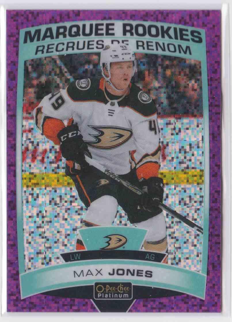 2019-20 Upper Deck Hockey O-Pee-Chee Platinum Max Jones - Violet Pixels #167 card front image