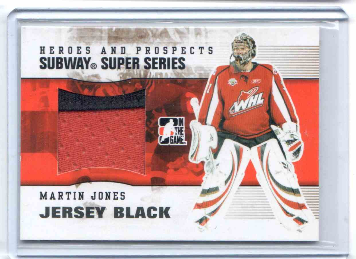 2009-10 In The Game Heroes And Prospects Subway Series Jersey Martin Jones #SSM-31 card front image