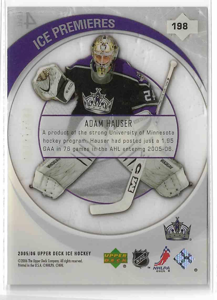 2005-06 Upper Deck Ice Adam Hauser #198 card back image