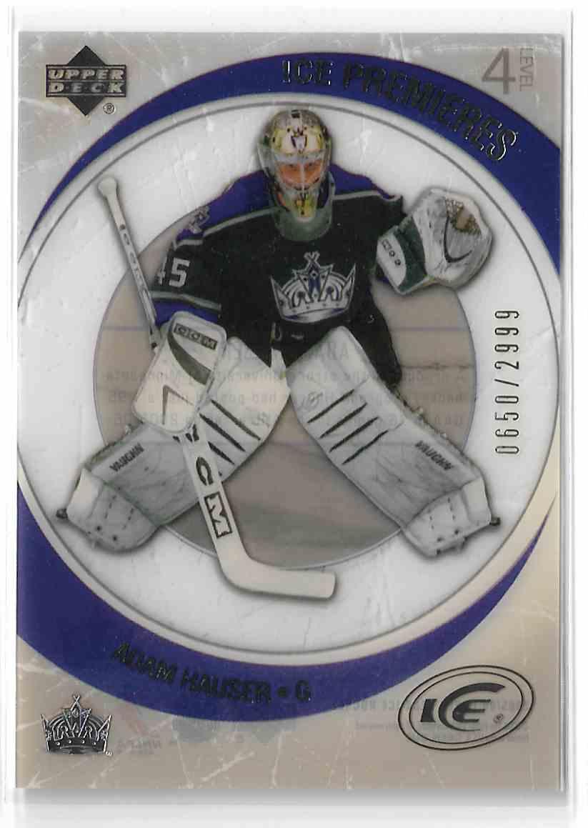 2005-06 Upper Deck Ice Adam Hauser #198 card front image